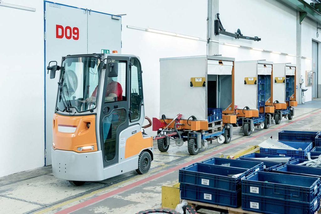 RFID Routenzugloesung in der Produktion bei EVG