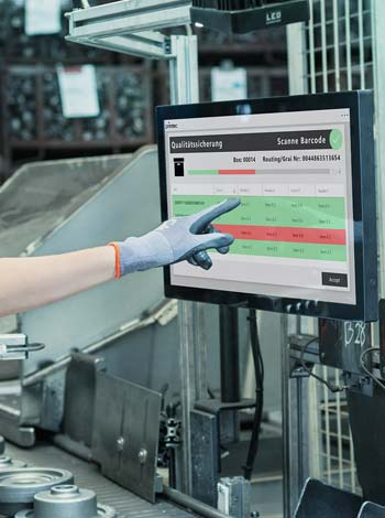Touchscreen mit primtec Applikation